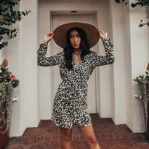 Topshop leopard dress